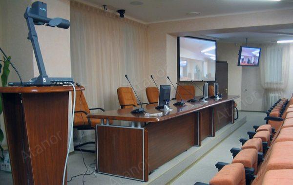 Оборудование конференц-зала нижегородского управления Центробанка