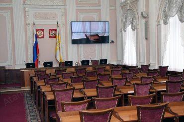 Конференц-зал с видеостеной 2х2 в Администрации Ставрополя