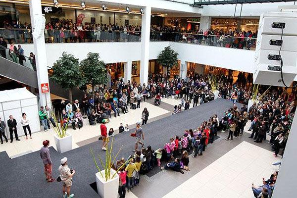 Система Public Address на детском празднике в торговом центре
