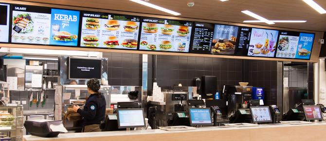 Digital Signage для сети ресторанов быстрого питания