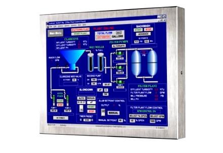 """12"""" промышленный водонепроницаемый сенсорный монитор VMXTRW-12C-SS"""