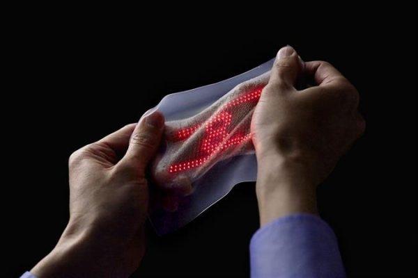 Цифровой эластичный дисплей «вторая кожа»