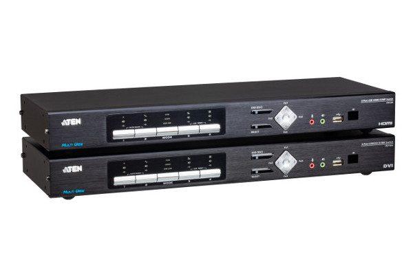 Продукты линейки компании ATEN «Multi-View KVM» - CM1284 (сверху) и CM1164A (снизу)