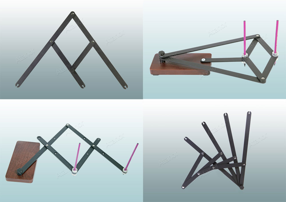 Практические пособия для образования (пантограф, разметчик, инверсор, трисектор)