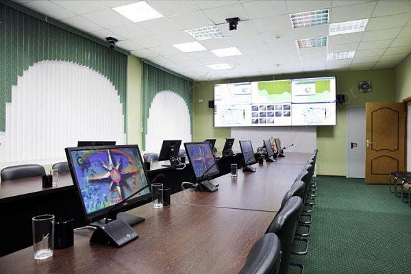 Установка современных систем AV-оборудования в ЦОД ГО ЧС Курской области